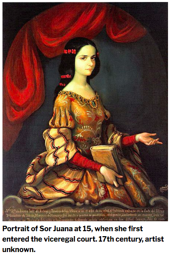 Image of a young Sor Juana before entering the convent