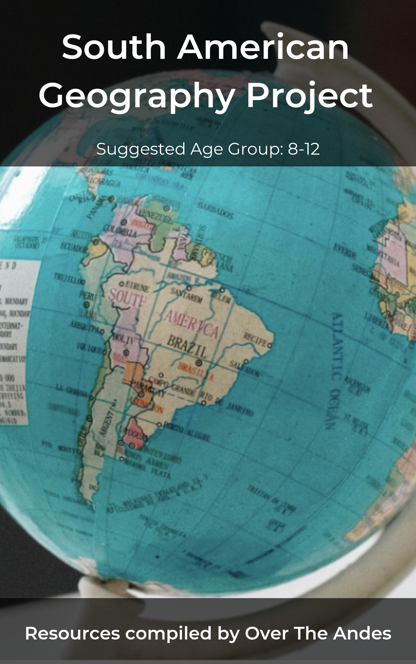 South America Geography Project Cover
