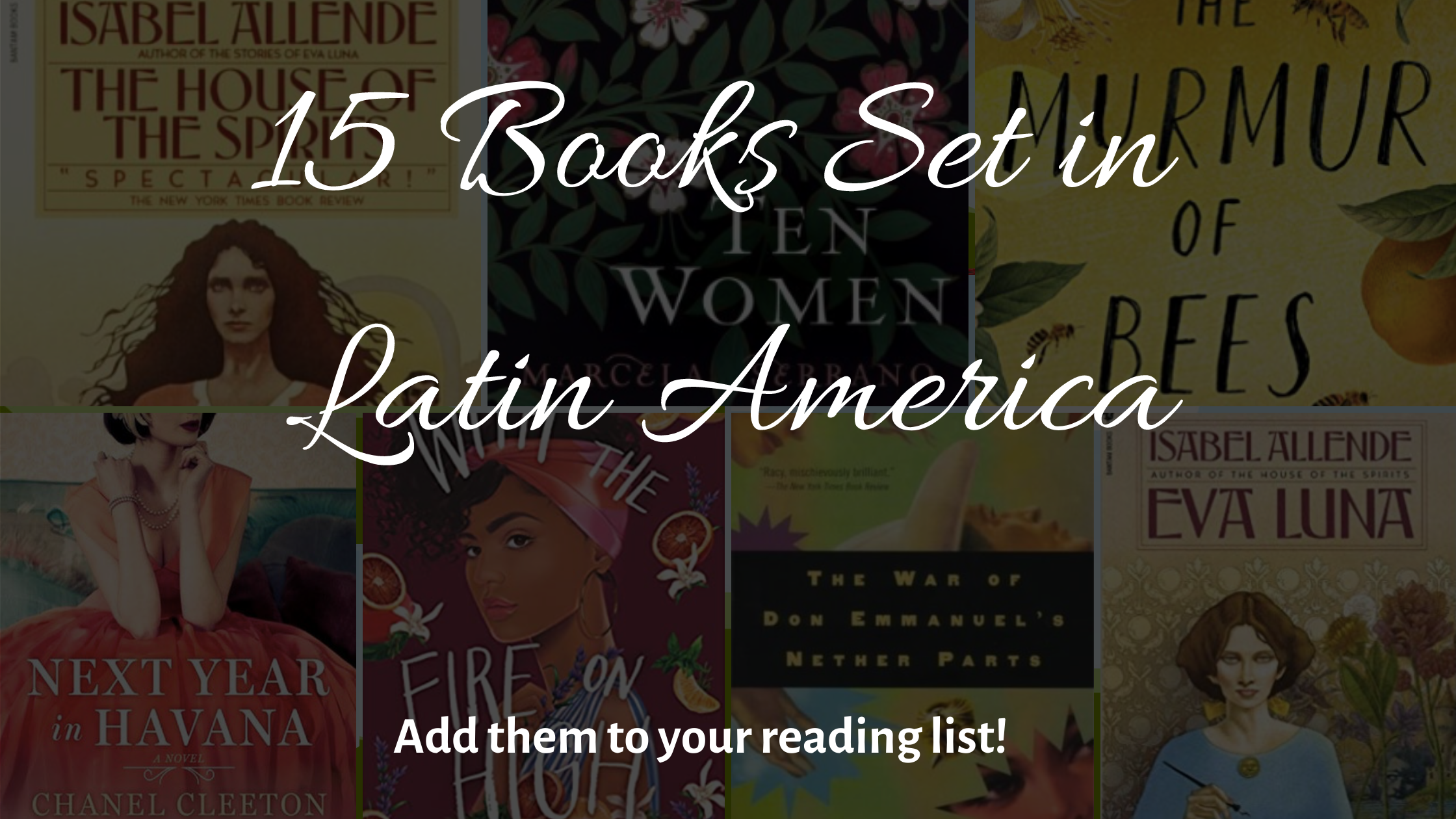 15 Books Set in Latin America