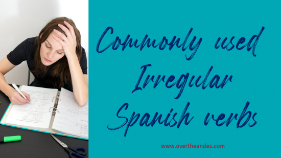 Commonly used irregular verbs in spanish
