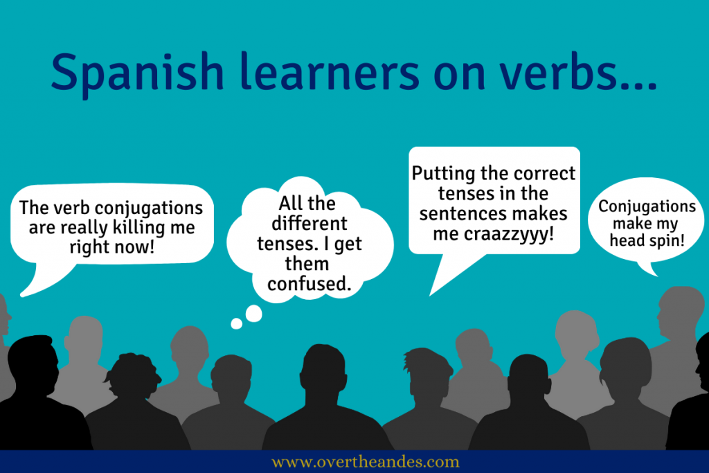 Spanish learners struggling with verbs