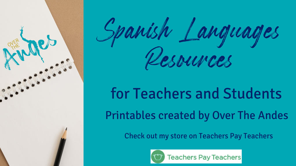 Spanish language resources for teachers and students available on Teachers Pay Teachers